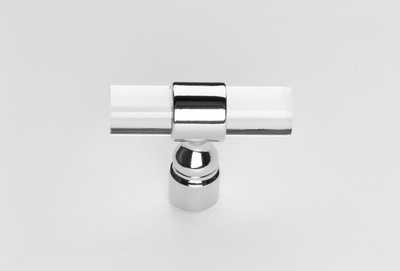 Clear Sky Handle - Chrome and Acrylic Door Pull at Handle This - Door Accessories in Newmarket
