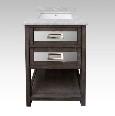 Modern Bathroom Vanity with Marble Vanity Top at Handle This