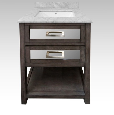 Brooklyn Vanity Cabinet with Mirrored Accents - Buy Bathroom Accessories in Newmarket at Handle This