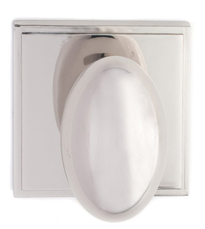 Oval Door Knob with Square Backplate - Buy Cabinet Knobs in Newmarket at Handle This