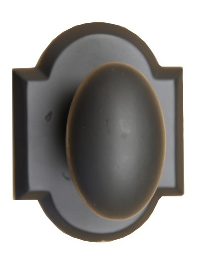 Oval Door Knob with Country Backplate - Buy Cabinet Knobs in Aurora at Handle This