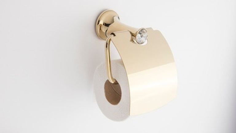 Glam Toilet Paper Holder with Lid - Buy Toilet Paper Holder Toronto ON at Handle This