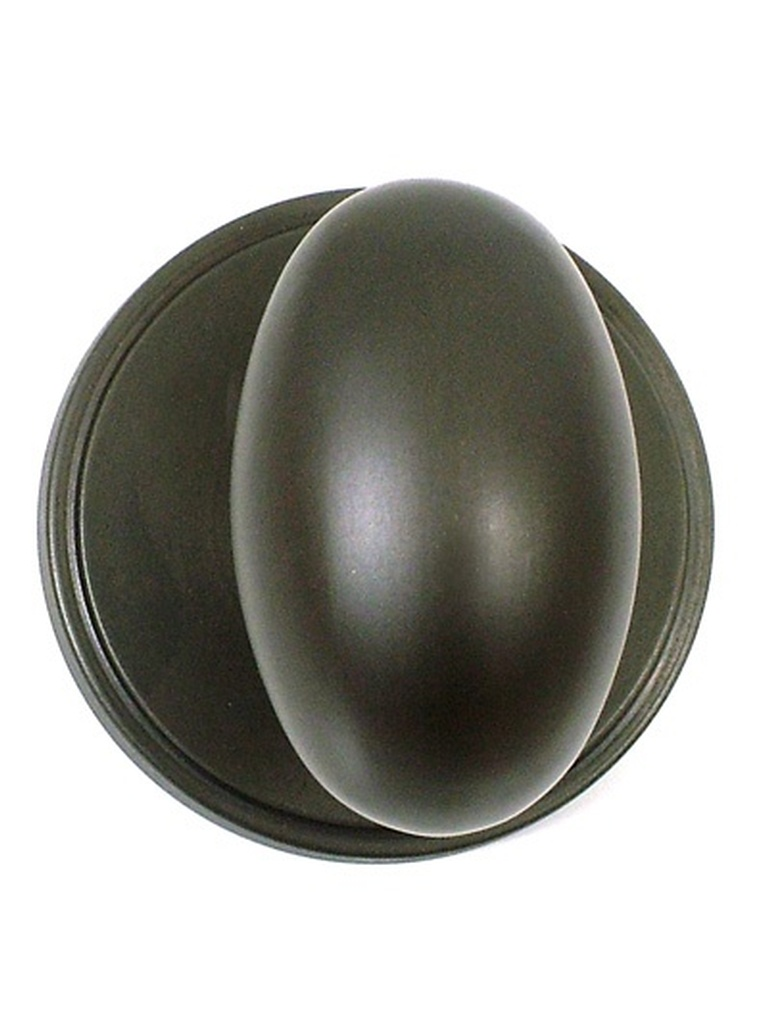 Oval Door Knob with Plain Backplate - Buy Cabinet Knobs Bradford at Handle This