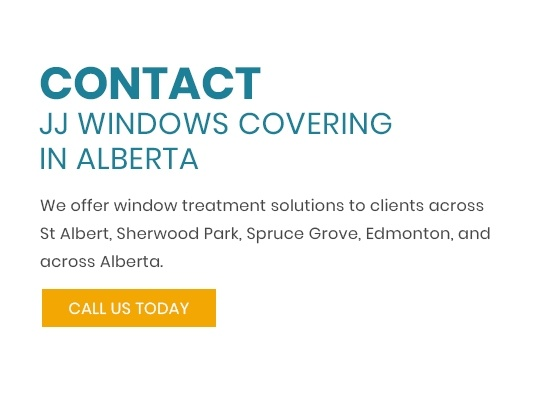 Contact JJ Windows covering in alberta