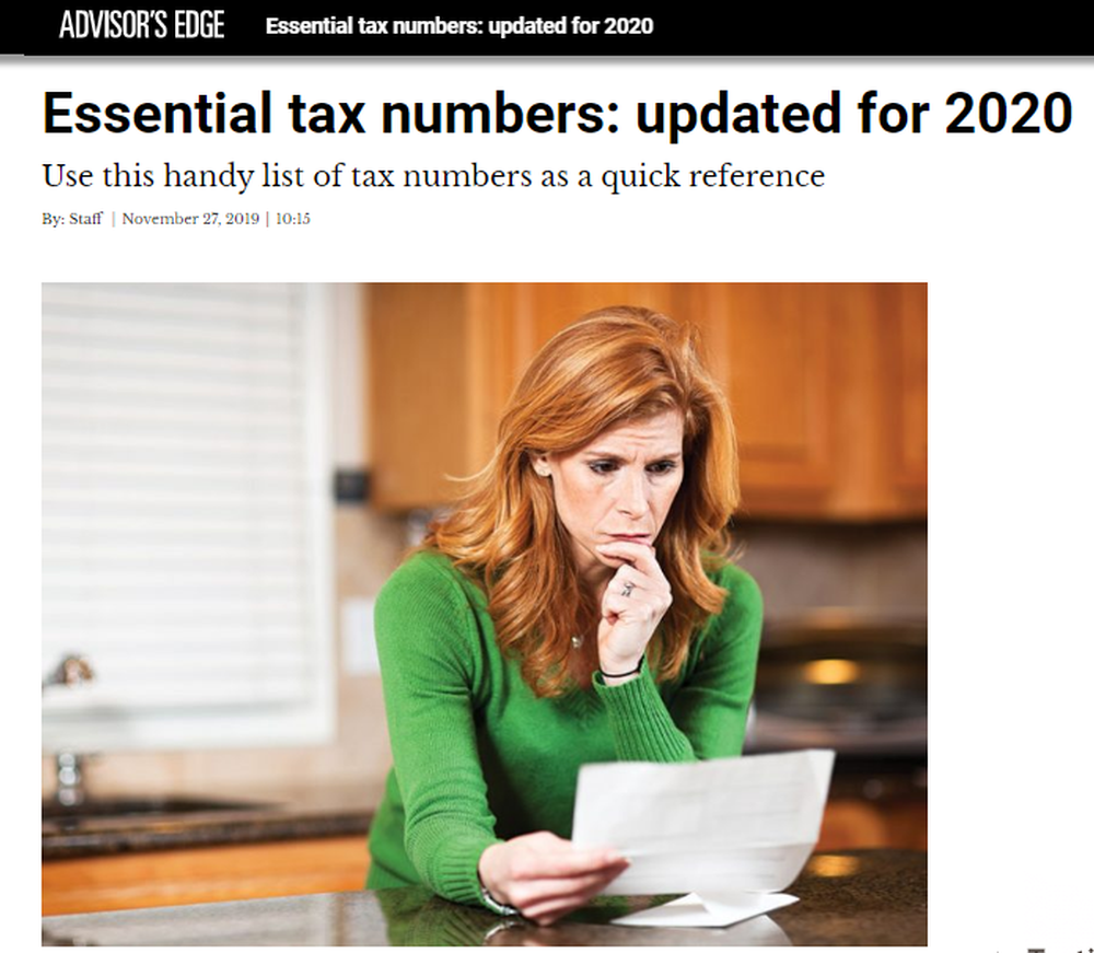 Essential tax numbers  updated for 2020   Advisor.png