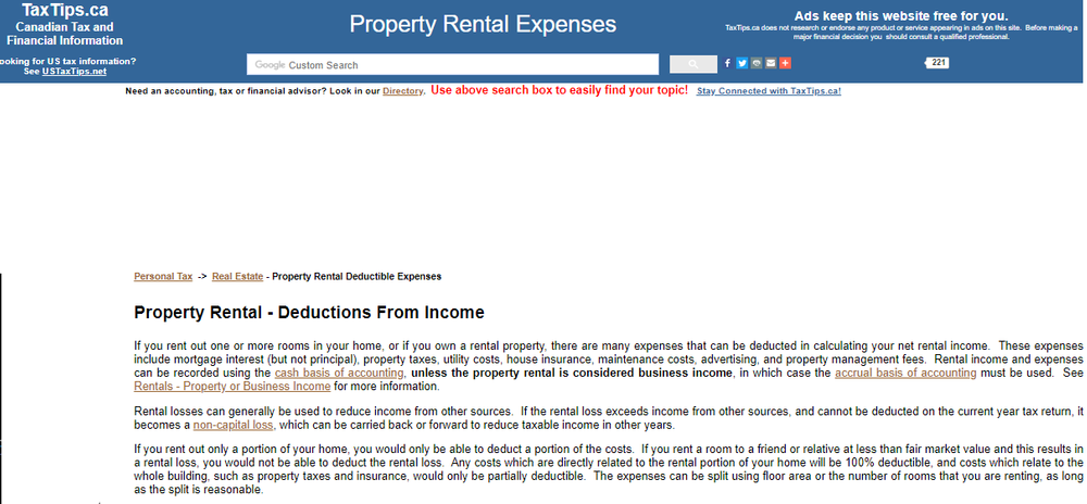 TaxTips ca - Property rental - deductible expenses.png
