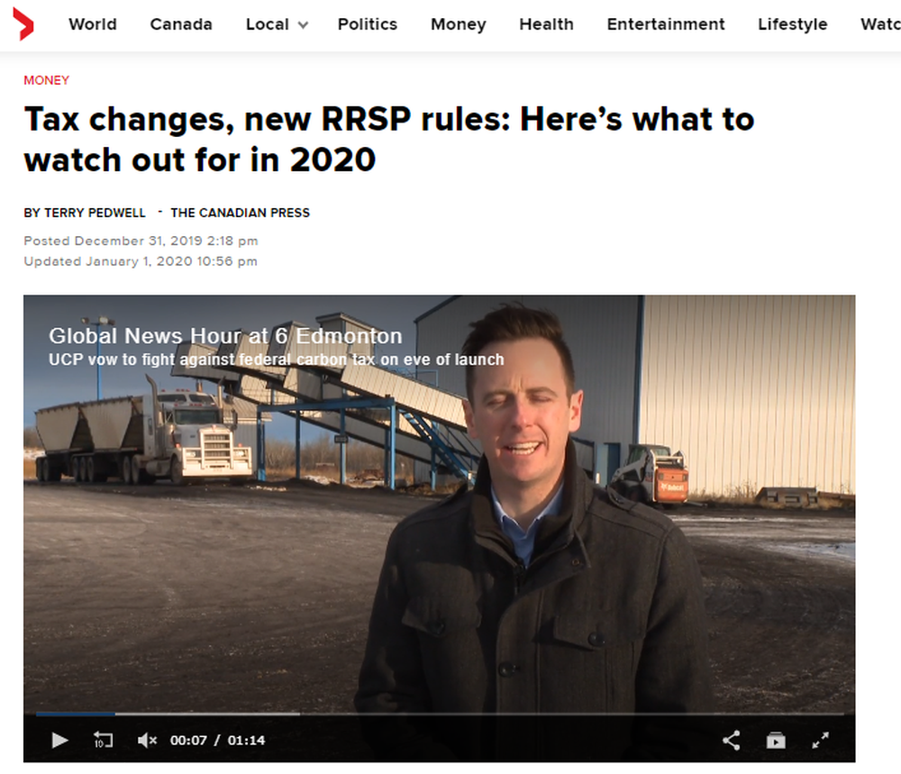 Tax changes  new RRSP rules  Here's what to watch out for in 2020 - National   Globalnews ca.png