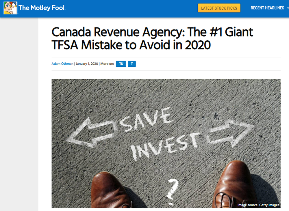 Canada Revenue Agency  The  1 Giant TFSA Mistake to Avoid in 2020   The Motley Fool Canada.png