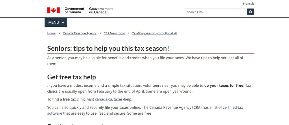 Seniors  tips to help you this tax season  - Canada ca.jpg