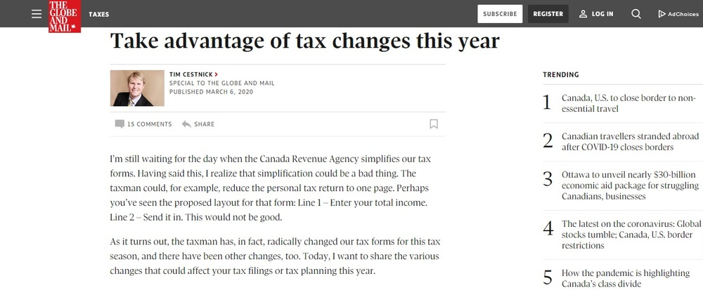 Take advantage of tax changes this year - The Globe and Mail.jpg