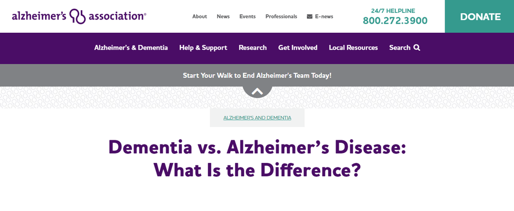 Dementia vs  Alzheimer's Disease  What Is the Difference    alz org.png