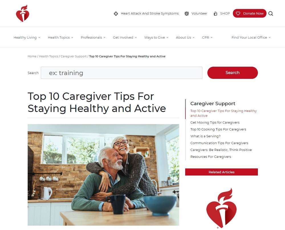 Top 10 Caregiver Tips For Staying Healthy and Active   American Heart Association.jpg