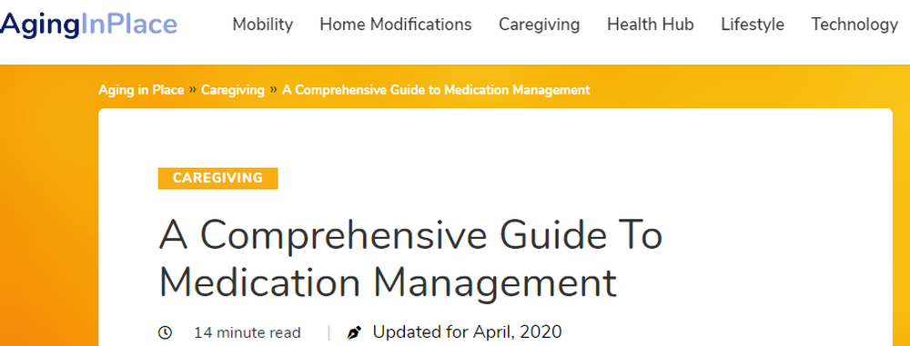 A Comprehensive Guide to Medication Management   Updated for 2020   AgingInPlace org.png