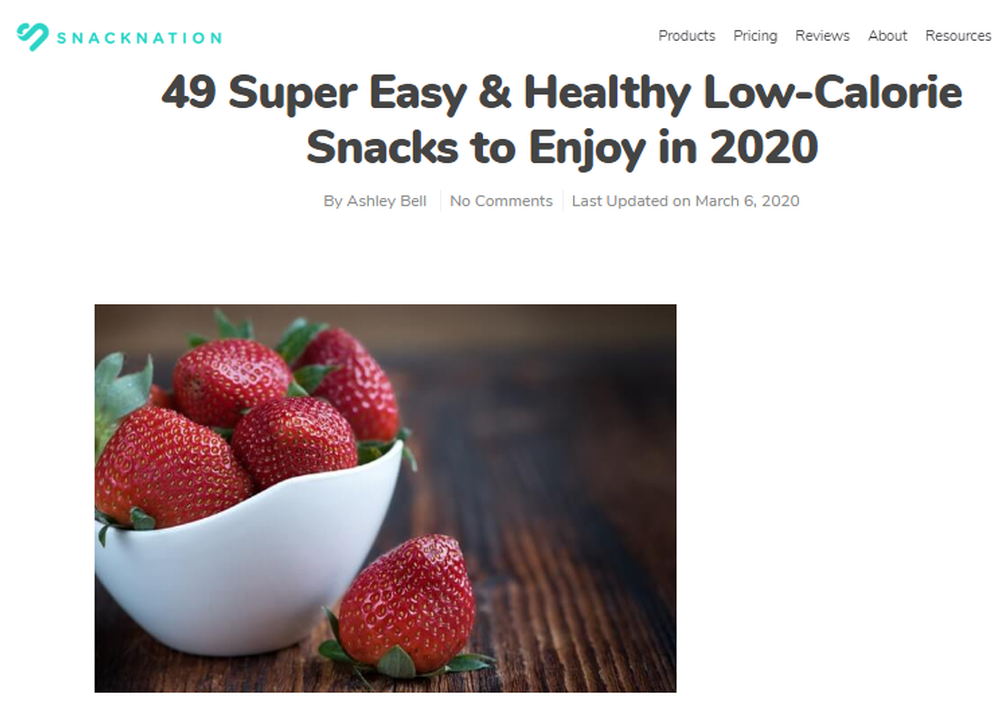 49 Super Easy and Healthy Low Calorie Snacks to Enjoy in 2020