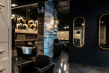 Iron Salon Interior Design in Windermere AB by Herr Design