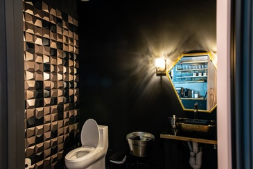 Bathroom Design for Iron Salon by Herr Design