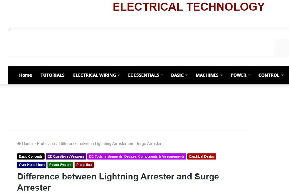 Difference between Lightning Arrester and Surge Arrester.jpg