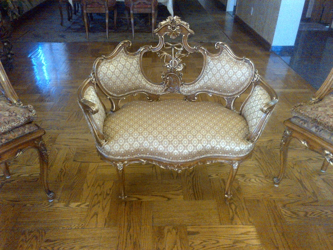Modern Upholstery for Antique Furniture by Nesco Upholstery and Design