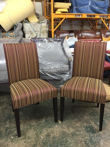 Modern Parsons Chairs - Residential Upholstery in Brooklyn NYC by Nesco Upholstery and Design