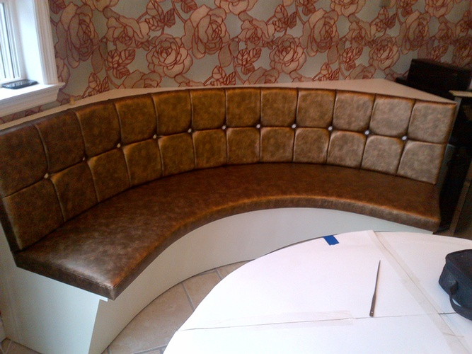 Modern upholstered curved sofa by Nesco Upholstery and Design -  Commercial Upholstery Services