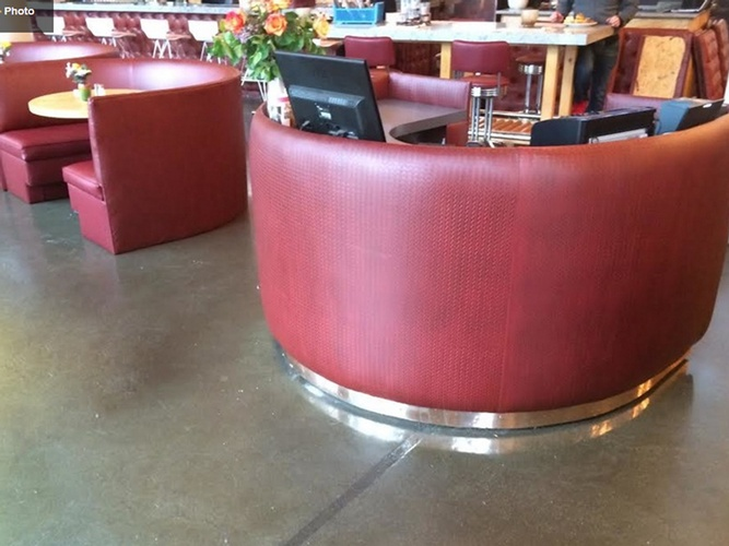 Custom Reception seats by Nesco Upholstery and Design - Commercial Upholstery in Manhattan
