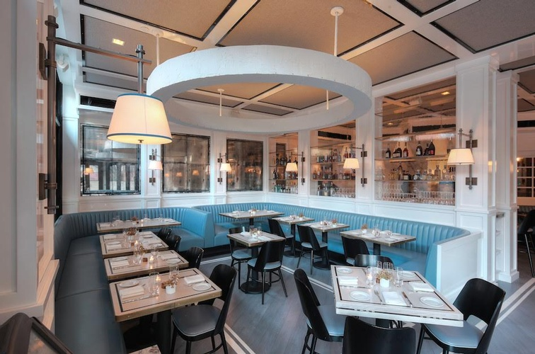Upholstered Restaurant Booths by Nesco Upholstery and Design