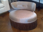Shimmer Fabric Upholstered Sofa Chair
