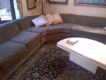 Grey color Upholstered Sectional Sofa by Nesco Upholstery and Design