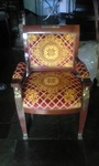 Vintage Cushioned Chair by Nesco Upholstery and Design