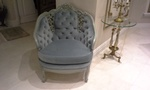 Newly Upholstered Grey color Chair by Nesco Upholstery and Design