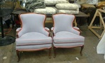 Pair of Antique Recliner Arm Chairs by Nesco Upholstery and Design