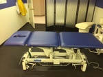 Blue and White Hospital Examination bed
