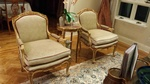 Antique Leather Padded Armchairs by Brooklyn Upholsterers - Nesco Upholstery and Design