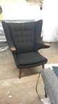 Black color Wing Armchair by Brooklyn Upholsterers - Nesco Upholstery and Design