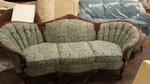 Victorian Style Paisley Fabric Sofa by  Nesco Upholstery and Design