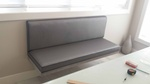 Upholstered Wall Hung Bench by Nesco Upholstery and Design