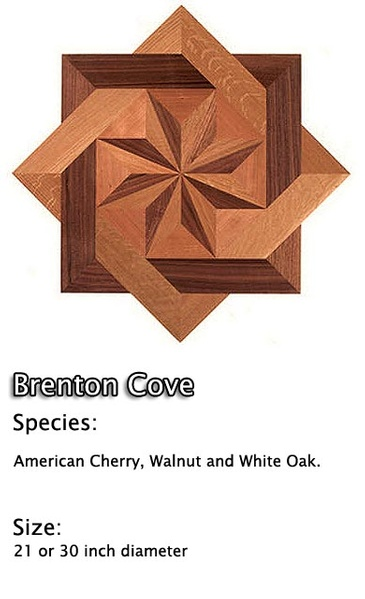 Hardwood Floor Medallion Installation  - American Cherry, Walnut and White Oak