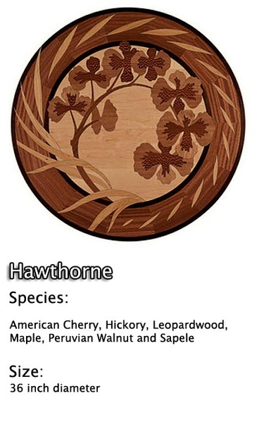 Hardwood Floor Medallion Installation - Brazilian Cherry, Mahogany, Walnut, Maple and Wenge