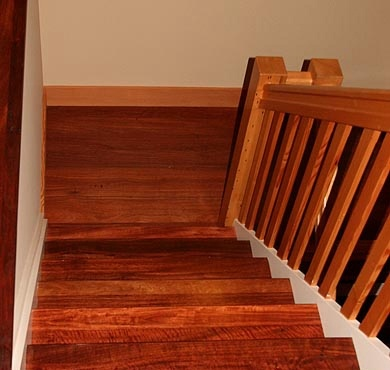 Santos Mahogany Boxed Stairs - Stair Installation by Al Havner and Sons Hardwood Flooring