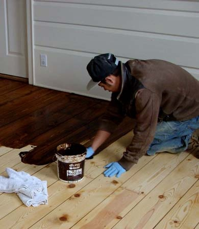 Staining Floors in Dearborn MI by Al Havner and Sons Hardwood Flooring