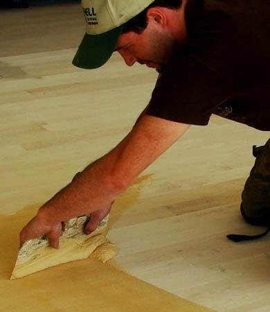 Trowel Filling  - Best Hardwood Floor Installation in Michigan by Al Havner and Sons Hardwood Flooring