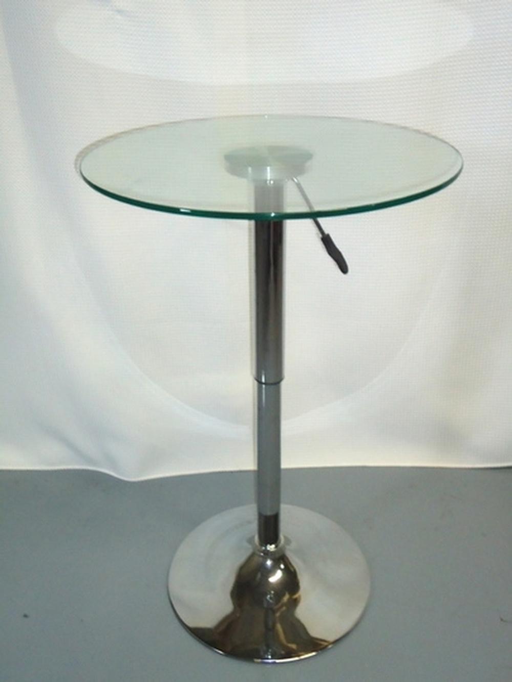 Charmant Glass Top Bar Height Table