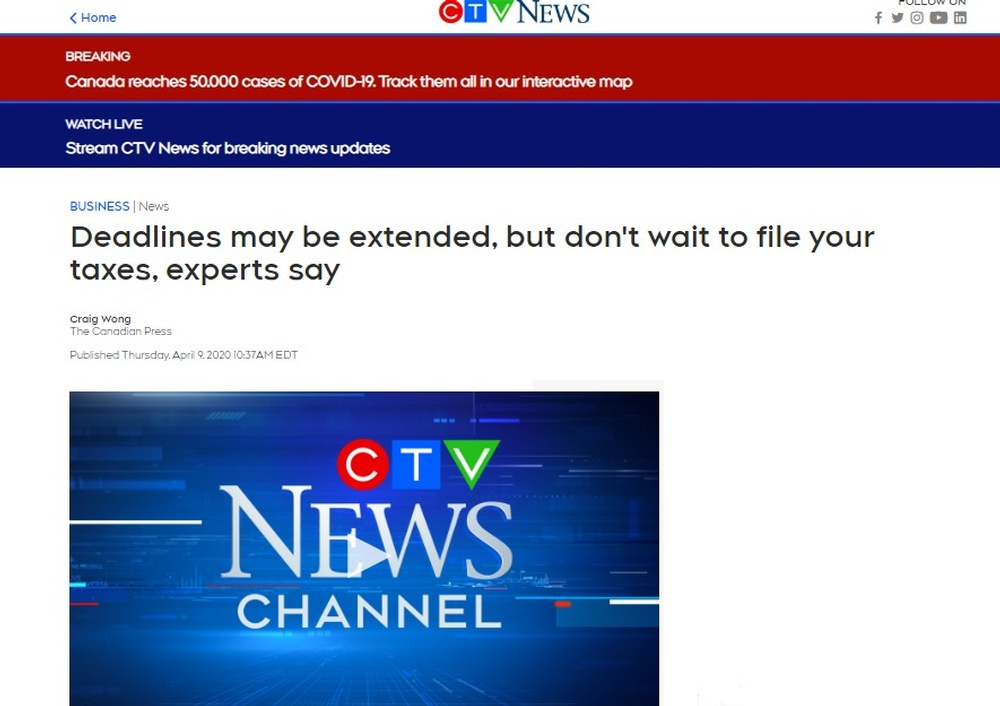 Deadlines may be extended  but don t wait to file your taxes  experts say   CTV News.jpg