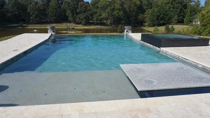 Modern Swimming Pool Construction by Bellagio Pools - Pool Building Company Alpharetta GA