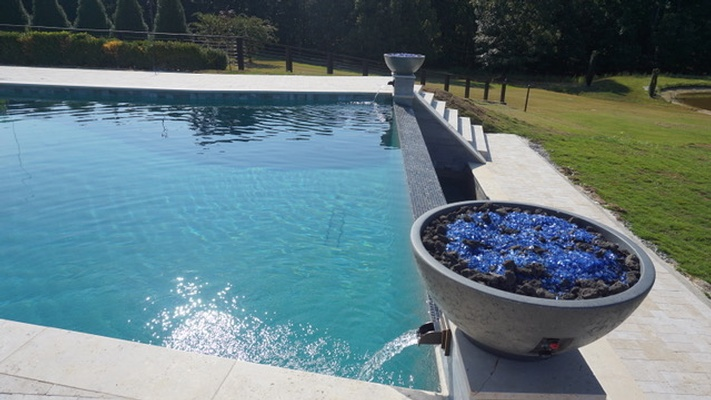 Pool Filling up with water - Outdoor Swimming Pool by Bellagio Pools - Pool Design Consultants Alpharetta GA