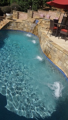 Commercial Swimming Pool Renovation by Bellagio Pools - Swimming Pool Contractor Alpharetta GA