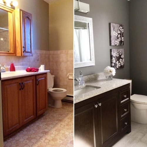 Before and After Bathroom Renovation Services by INTERIORS by NICOLE - Interior Decorator Azilda