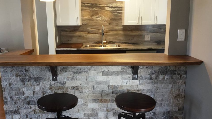 Stylish Kitchen Bar Counter - Kitchen Renovations Hanmer by INTERIORS by NICOLE
