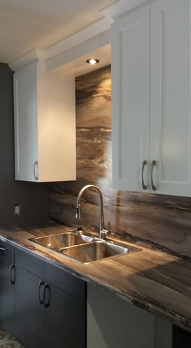 Kitchen Cabinets with Recessed Lighting - Kitchen Renovations Whitefish by INTERIORS by NICOLE