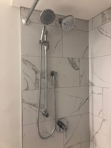 Shower Room with Shower Head - Bathroom Interior Design Services by Walden Interior Decorator